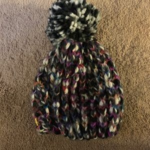 Knit Hat with Poof